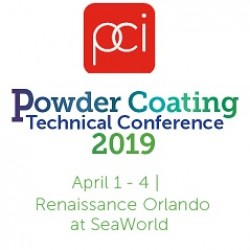 PCI POWDER COATING 2019 TECHNICAL CONFERENCE, 01-04 April 2019, ORLANDO-USA