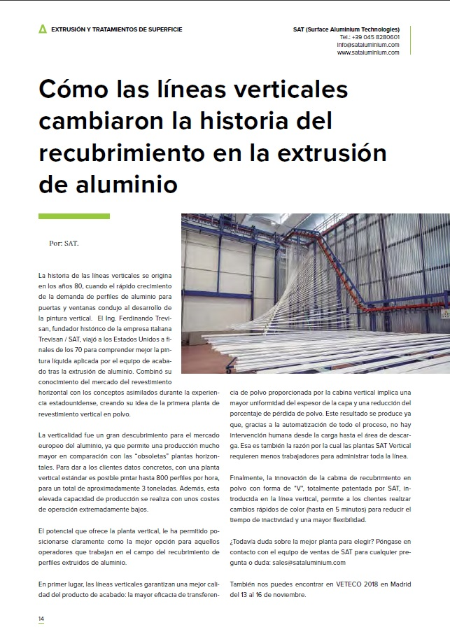 HOW VERTICAL LINES CHANGED ALUMINIUM EXTRUSIONS COATING HISTORY