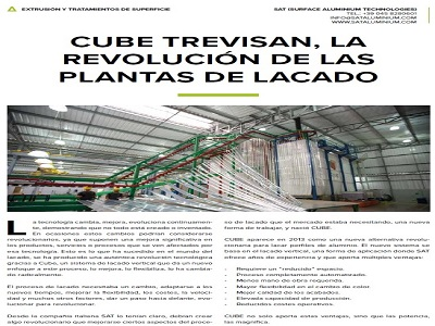 CUBE® TREVISAN: WHEN THE REVOLUTION TOOK PLACE IN ALUMINIUM POWDER COATING
